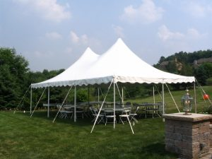 Pole Tents with Table and Chairs