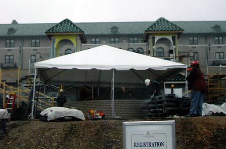 Hershey Hotel Work Site Tent