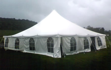 Single Center Pole Tent with Sides