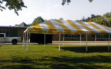 Yellow Striped Tent